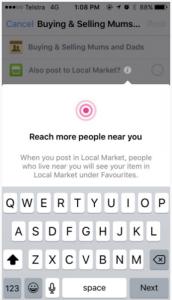 Facebook тестирует «Local Market»